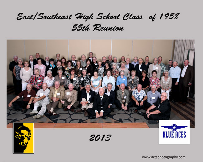 East/South East Class of 1958 Reunion Group Photograph in Wichita