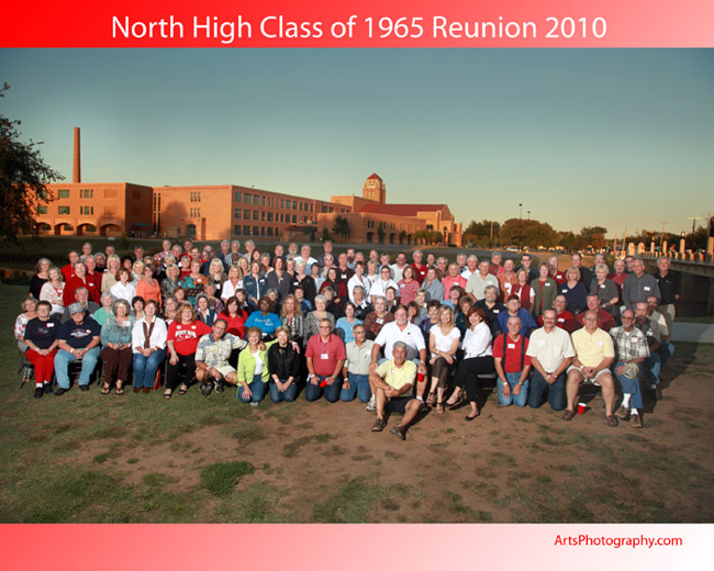 North High Class of 1965 Outdoor Group Photography